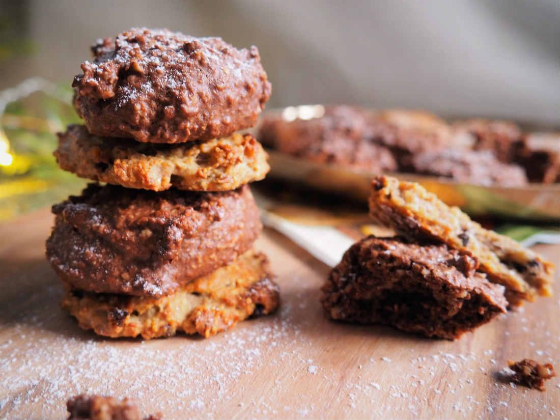 Zweierlei weihnachtliche Cookie's